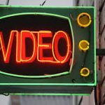 Image of Aro Video Neon-lit Sign