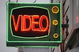Image of Aro Video Neon-lit Sign