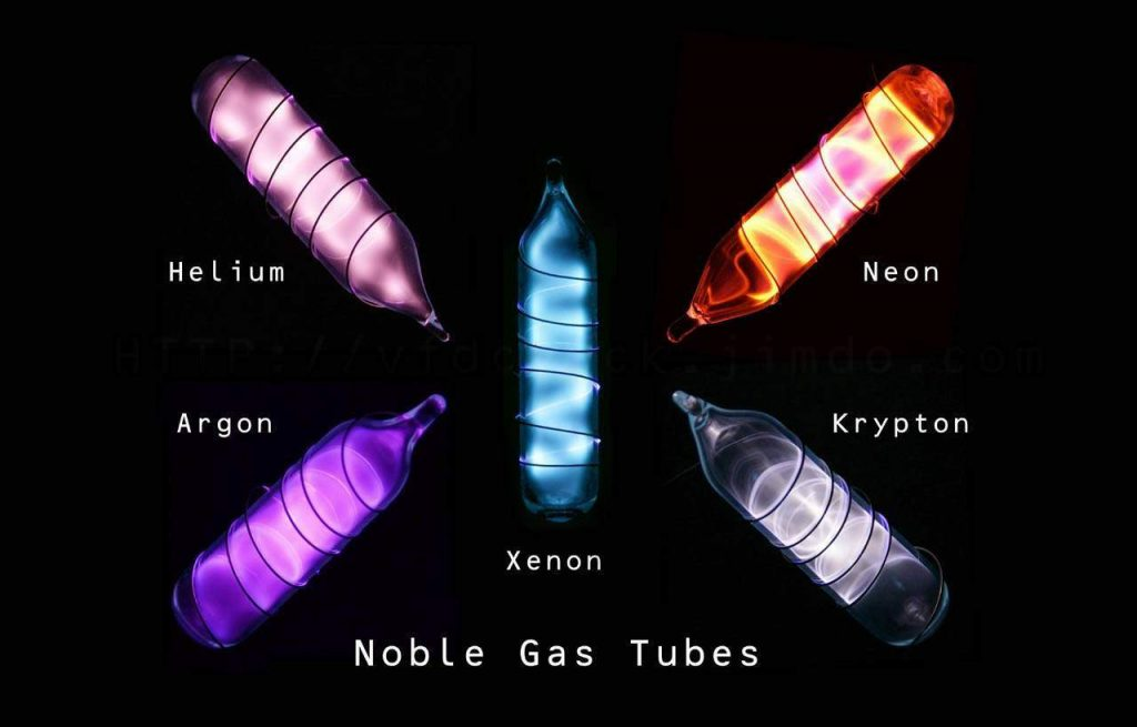 Image of Noble gas tubes neon sign