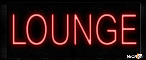 Image of Lounge In Red Neon Signs_10x24 Black Backing