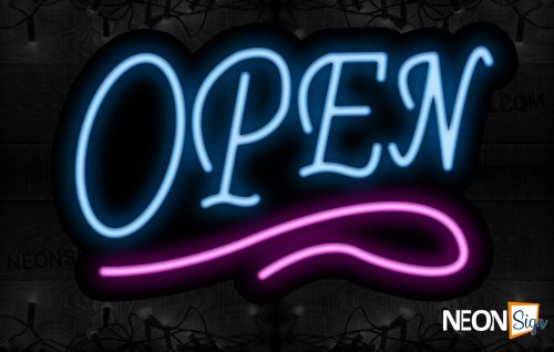 Image of Open With Pink Neon Sign