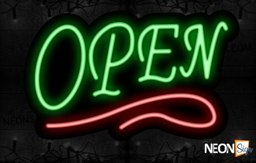 Image of Open With Red Neon Sign