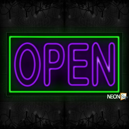 Image of Openi in Purple Neon Sign