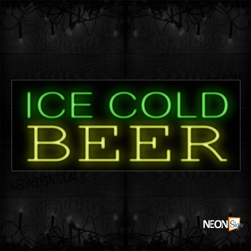 Image oof Ice Cold Beer Neon Sign- Vertical