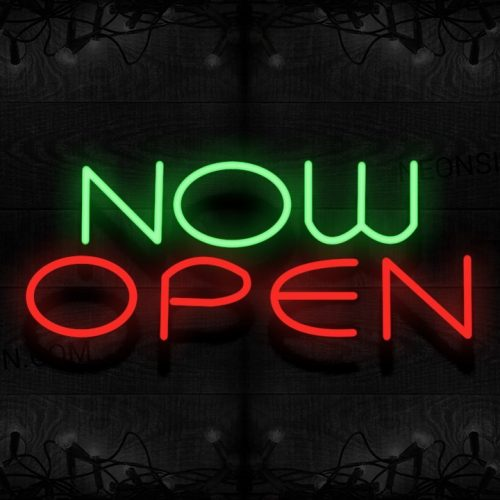 Image of Now Open Neon Sign