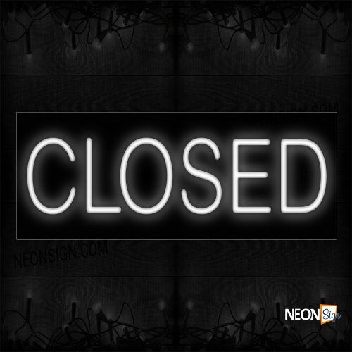 Image of Closed In White Neon Sign