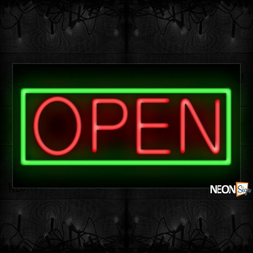 Image of Open in Red text Neon Sign