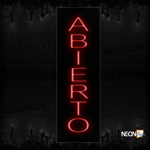 Image of Abierto In Red (Vertical) Neon Sign