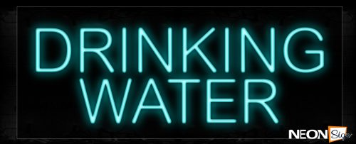 Image of 10051 Drinking Water Neon Signs_13x32 Black Backing