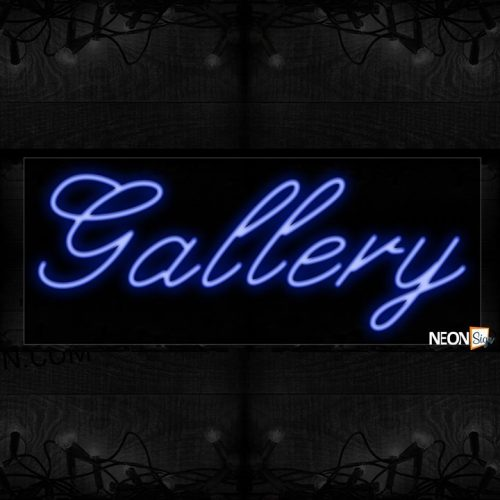 Image of 10063 Gallery Neon Sign_13x32 Black Backing