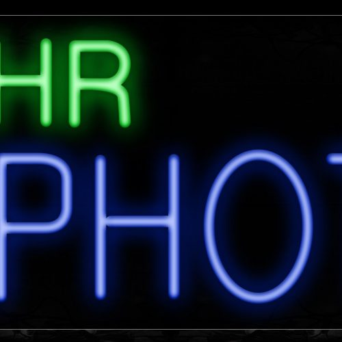 Image of 10110 1 double stroke Hr Photo Neon Sign_13x32 Black Backing