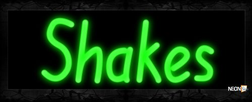 Image of 10291 Shakes Neon Sign 13x32 Black Backing