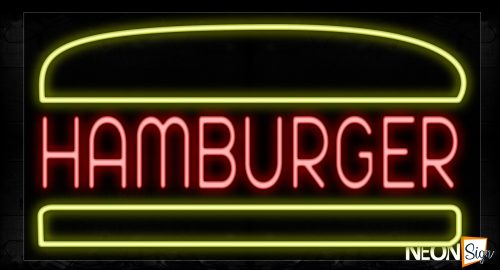 Image of 10417 Photo With Border Neon Signs_20x37 Black Backing