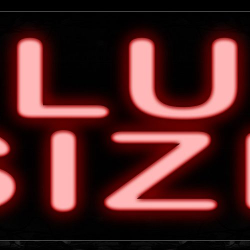 Image of 10610 Plus Size Neon Sign_13x32 Black Backing