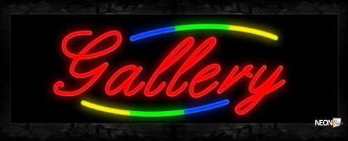 Image of 10801 Neon Sign 13x32 Black Backing