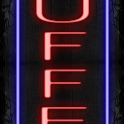 Image of 10972 Buffet with blue border LED Flex (Vertical sign)_13x32 Black Backing