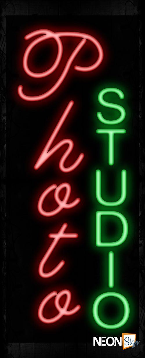 Image of 11017 Photo Studio Neon Signs_32 x12 Black Backing