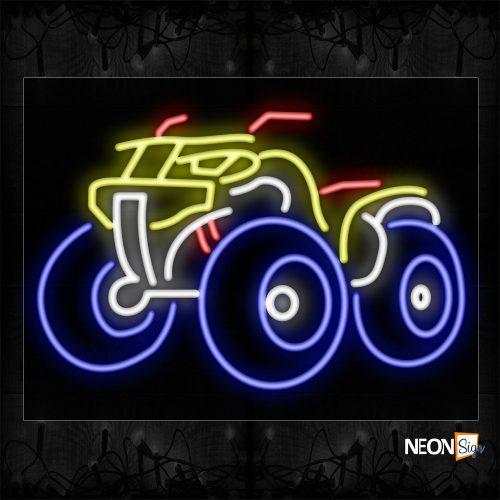Image of 11243 Atv Motorcycle_24x31 Black Backing