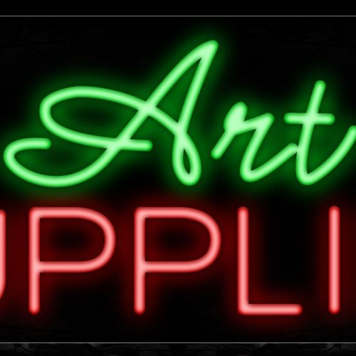 Image of 11353 Art Supplies Traditional Neon_13x32 Black Backing