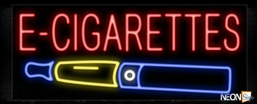 Image of 11385 E-Cigarettes with logo Neon Sign_13x32 Black Backing