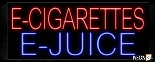 Image of 11386 E-Cigarettes E-Juice Neon Sign_13x32 Black Backing