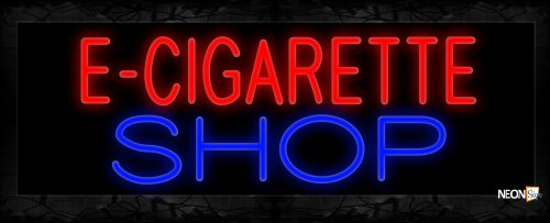 Image of 11388 E-Cigarette Shop Neon Sign 13x32 Black Backing