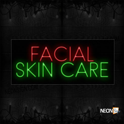 Image of 11398 Facial Skin Care Neon Signs_130x32 Black Backing
