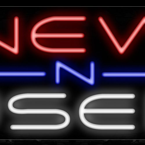 Image of 11449 New n Used with blue line Neon Sign_13x32 Black Backing