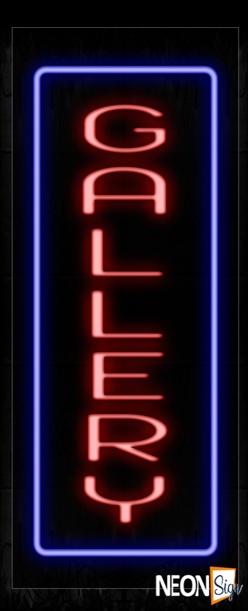 Image of 11559 Gallery With Border Neon Signs_13x32 Black Backing