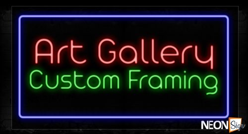Image of 11655 Art Gallery With Border Neon Signs_20x37 Black Backing