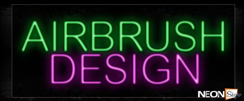 Image of 12002 Airbrush Design Neon Signs_10x24 Black Backing