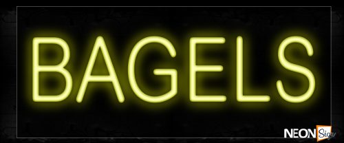 Image of 12007 Bagels Neon Signs_10x24 Black Backing