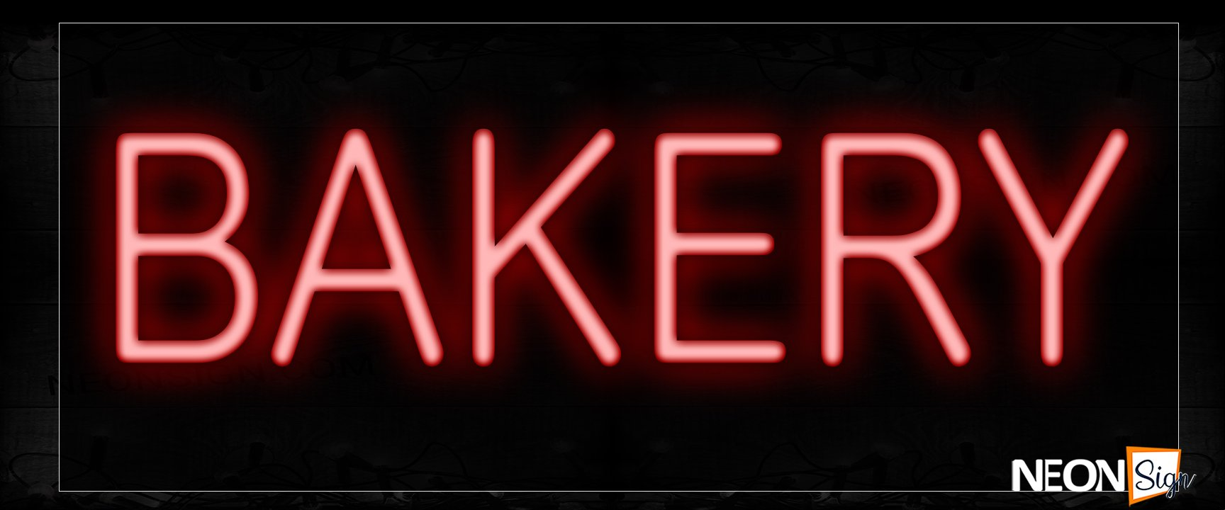 Image of 12009 Bakery In Red Neon Signs_10x24 Black Backing