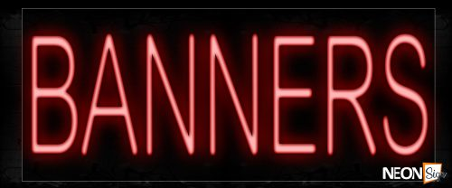 Image of 12010 Banners Neon Signs_10x24 Black Backing
