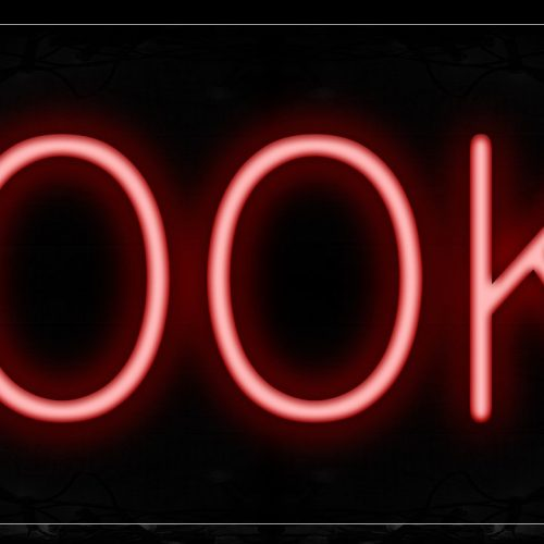 Image of 12021 Books Neon Signs_10x24 Black Backing