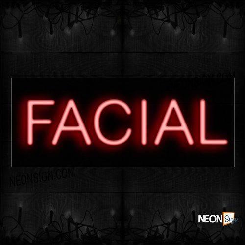 Image of 12058 Facial In Red_10x24 Black Backing