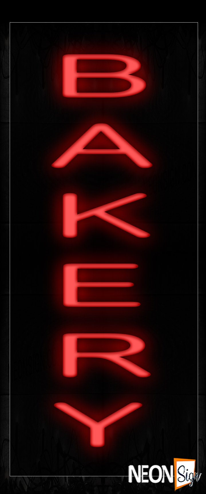 Image of 12197 Bakery (Vertical) Neon Signs_10x24 Black Backing