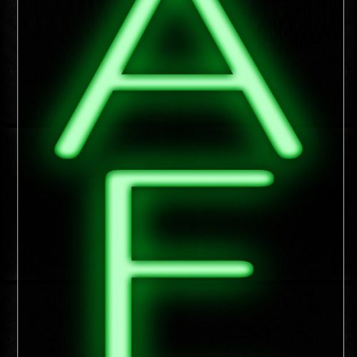 Image of 12209 Cafe In Green (Vertical) Neon Signs_8x24 Black Backing