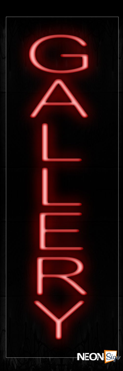 Image of 12236 Gallery Neon Signs - Vertical_8x24 Black Backing