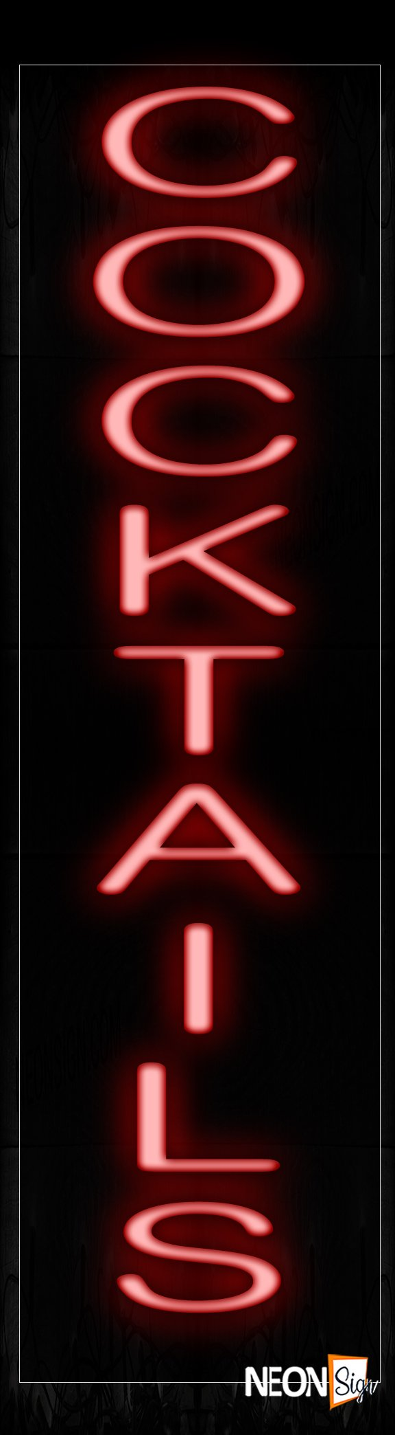 Image of 12424 Cocktails Neon Signs_8x29 Black Backing