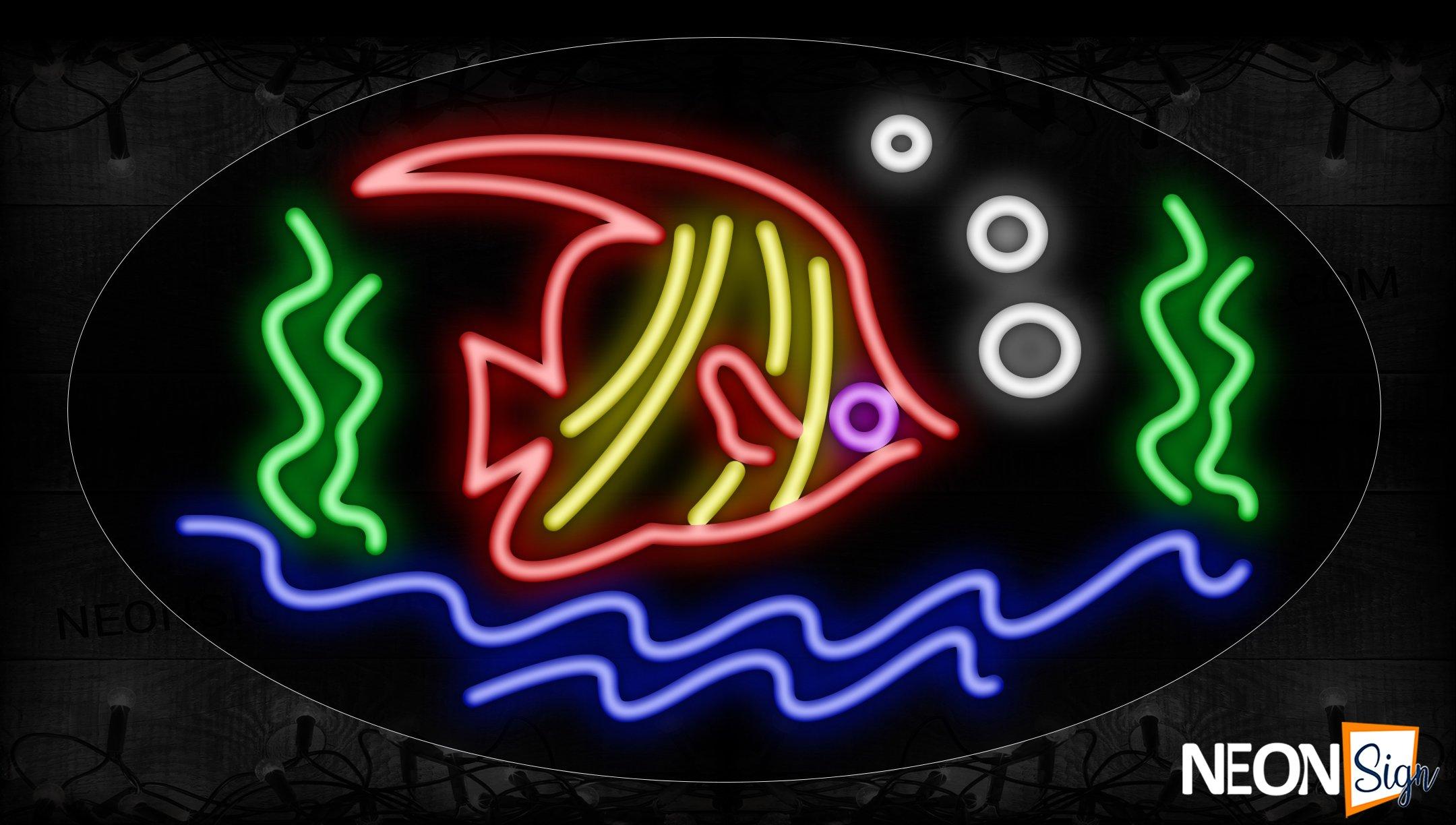 Fish And Sea Logo Neon Sign - NeonSign.com - photo#11