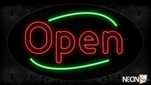 Image of 14114 B.B.Q With Curve Border Neon Signs_17x30 Contoured Black Backing