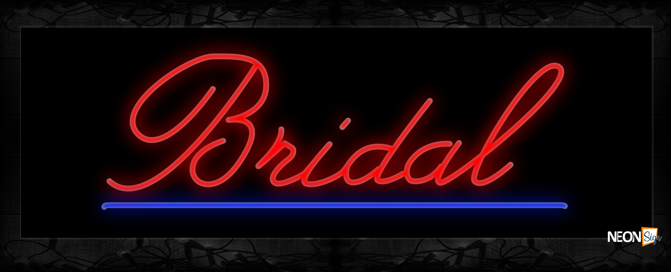 Image of 10025 Neon Sign 13x32 Black Backing
