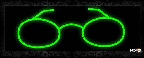 Image of 10067 Eyeglass Neon Sign 13x32 Black Backing