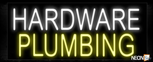 Image of 10075 Hardware Plumbing Neon Sign_13x32 Black Backing