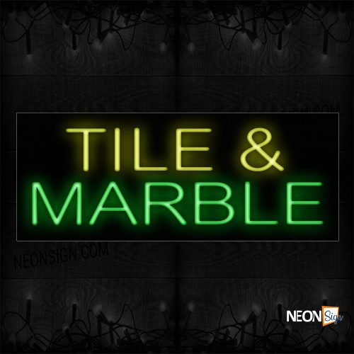Image of 10136 Tile & Marble Neon Sign_13x32 Black Backing