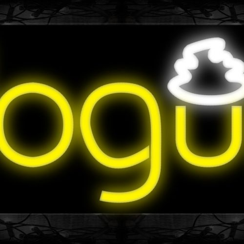 Image of 10146 Yogurt Neon Sign 13x32 Black Backing