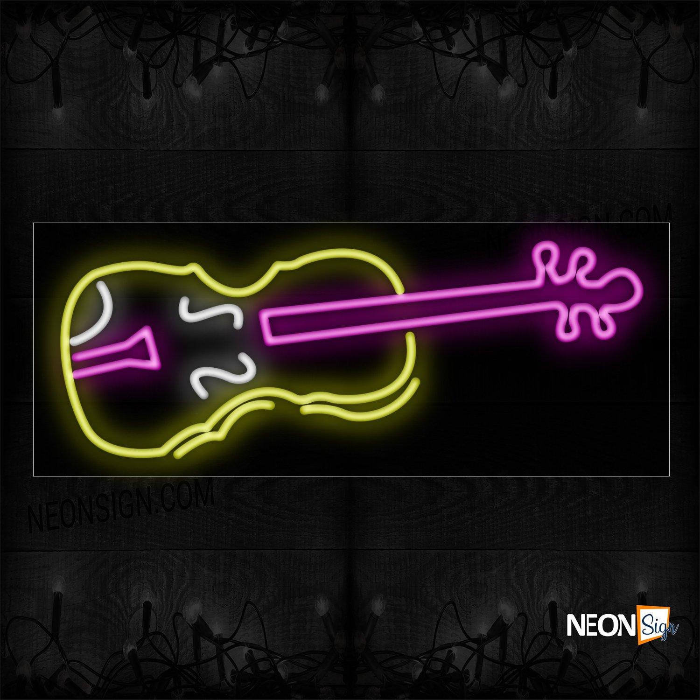 Image of 10149 Guitar logo Neon Sign_13x32 Black Backing