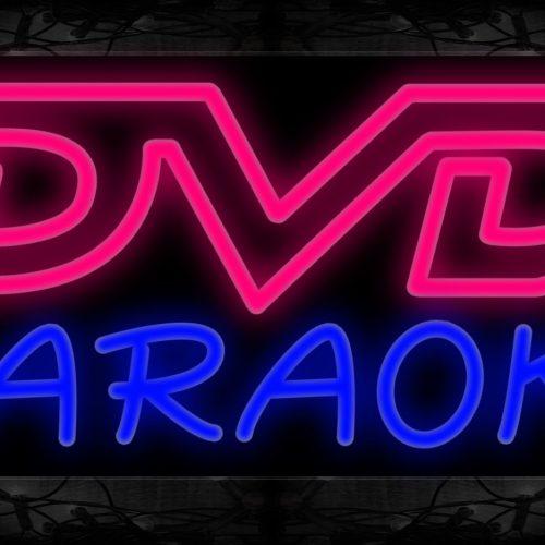 Image of 10230 Double stroke DVD Karaoke Neon Sign 13x32 Black Backing