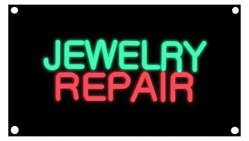 Image of 10256 jewelry repair border neon sign
